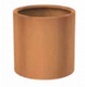 Corten Steel Cylinder Planters from potstore.co.uk